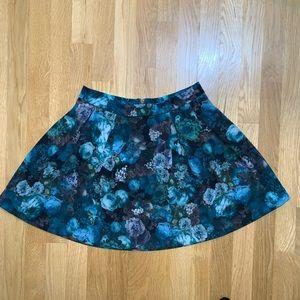NWT express blue floral skirt